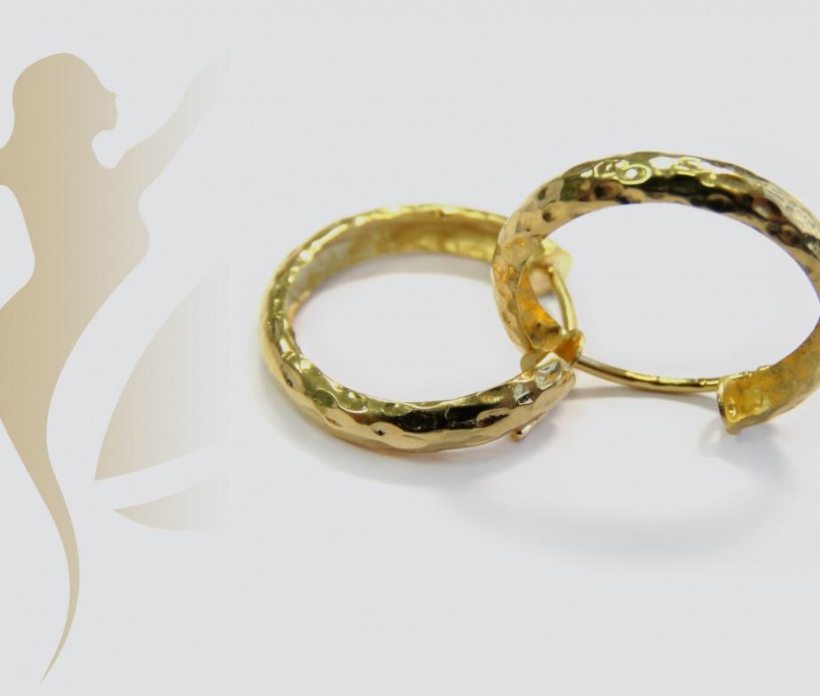 real gold hoop earrings