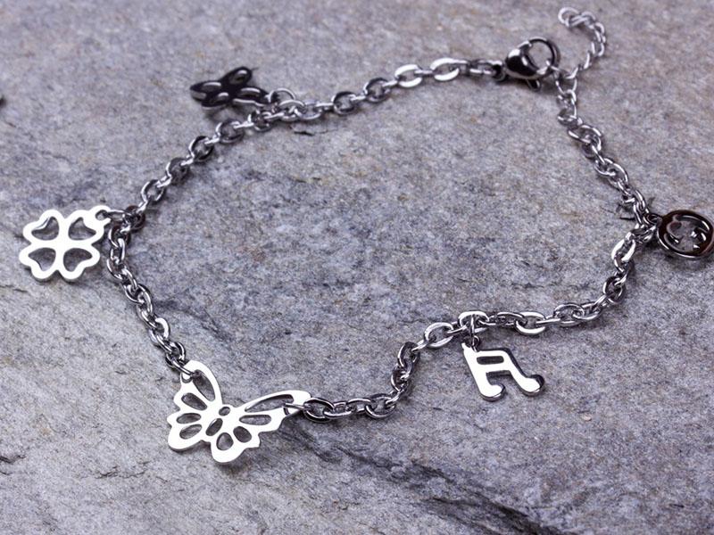 silver ankle bracelets