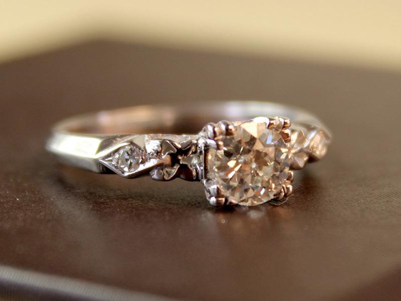 simple vintage engagement rings