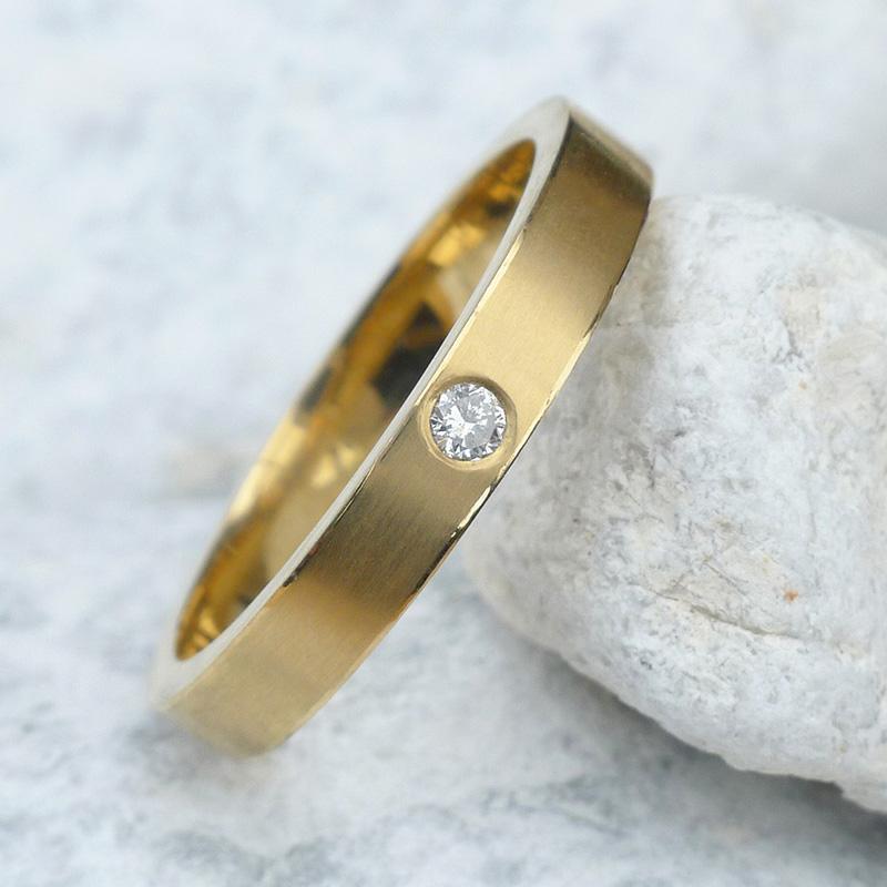 single diamond wedding rings