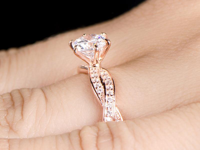 tacori engagement rings on hand