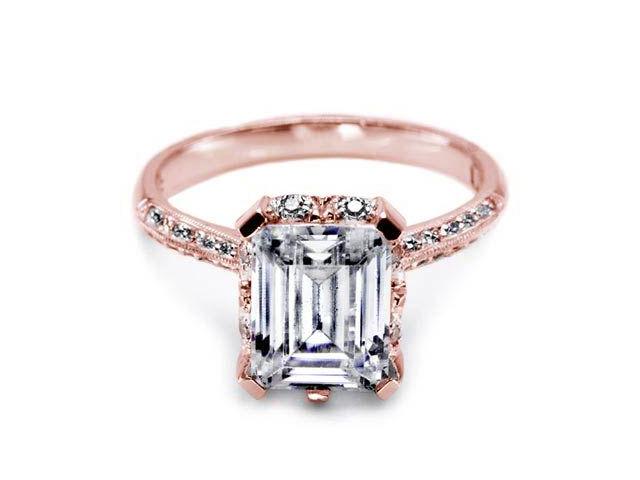 tacori engagement rings rose gold