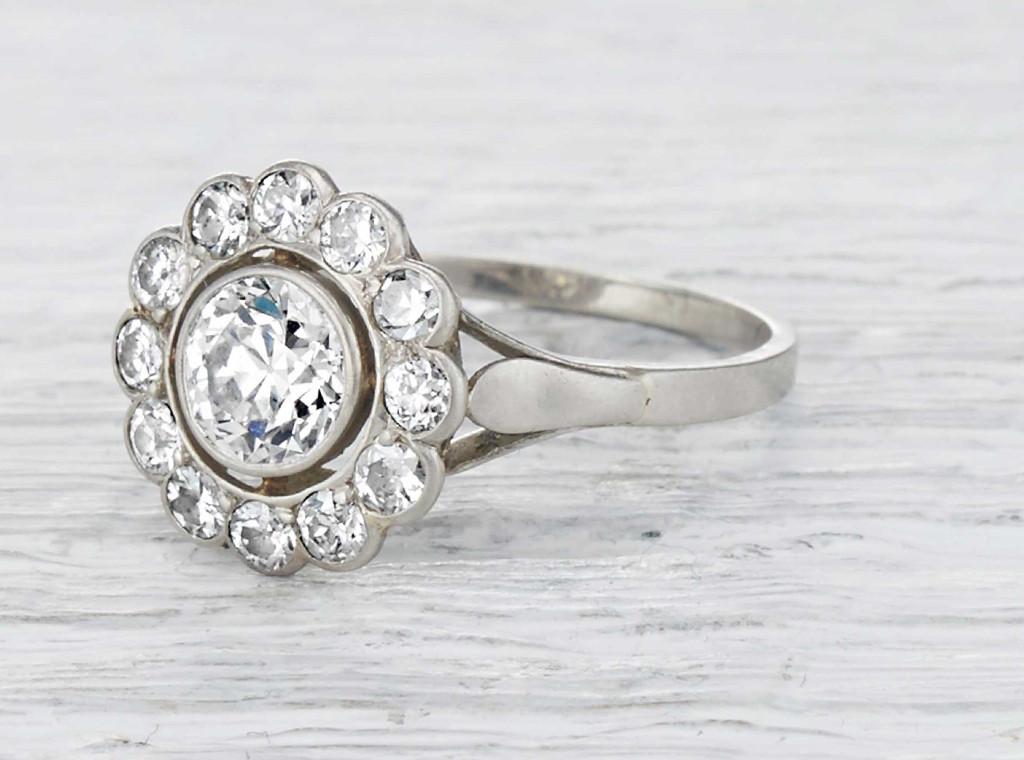 vintage engagement rings art deco