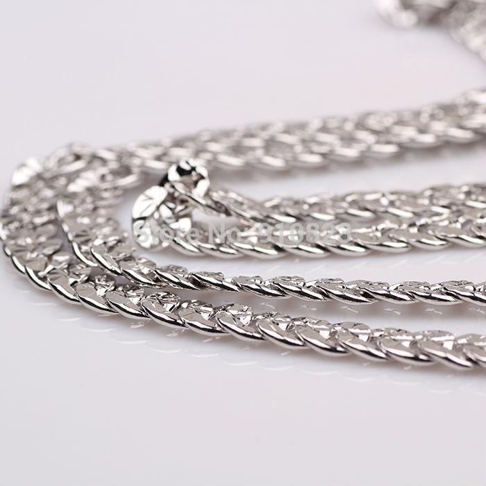 white gold men's necklace