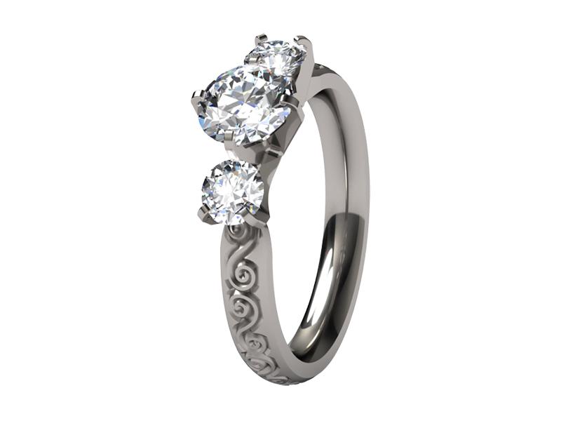 womens titanium rings
